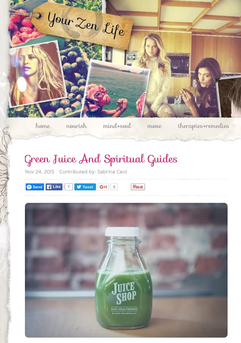 Green Juice & Spiritual Guides
